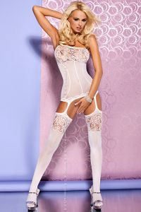 Боди-комбинезон Obsessive BODYSTOCKING F 204 WHITE
