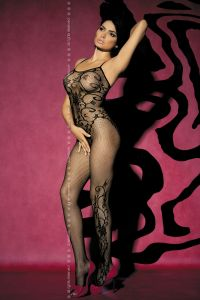 Боди-комбинезон Obsessive BODYSTOCKING F 205 BLACK